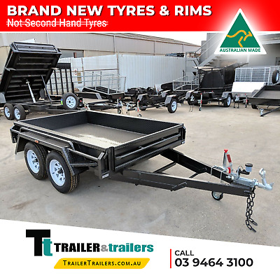 10x5 TANDEM AXLE DELUXE HEAVY DUTY BOX TRAILER | FULL CHECKERPLATE BODY
