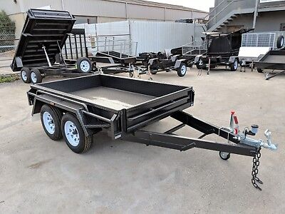 12x6 TANDEM AXLE DELUXE HEAVY DUTY BOX TRAILER | FULL CHECKERPLATE BODY