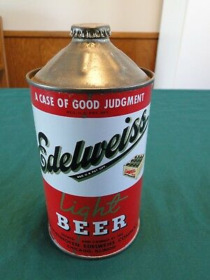 Edelweiss Quart - 32 Oz. Cone Top Beer Can With Cap - Awesome Can - Bcca 207-13