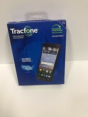 New Tracfone Alcatel Raven 16GB Cell Smartphone Cheap Best Sell Fast Free Ship