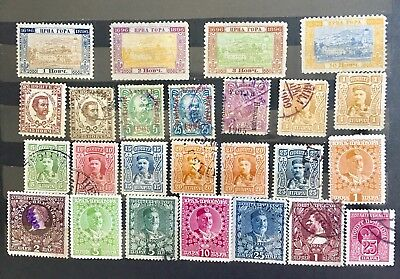 1896-1913 Montenegro. Selection Of 25 Used Stamps.