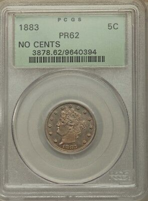 1883 No CENTS Proof Liberty Nickel PCGS PR62. OGH