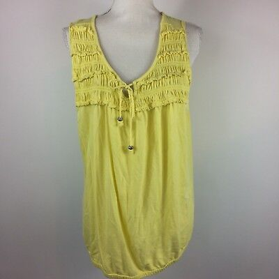 Lane Bryant Fun & Flirty Yellow Tank Top Womens Plus Size 18/20