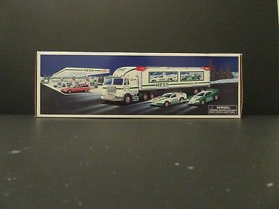 1997 Hess Toy Truck and Racers New In Box