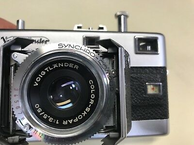 Voigtlander Vitessa 35mm camera Color-Skopar 1:3.5/50mm lens parts or repair