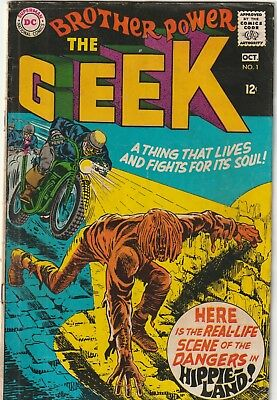 Brother Power the Geek 1 DC Silver Age GD
