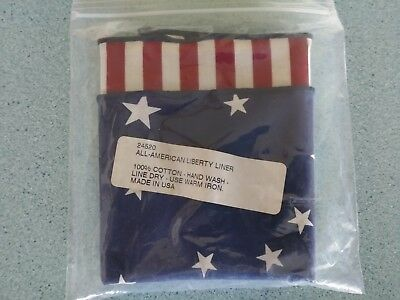 Longaberger  All American fabric napkin for your 1993 Liberty Cracker basket NEW