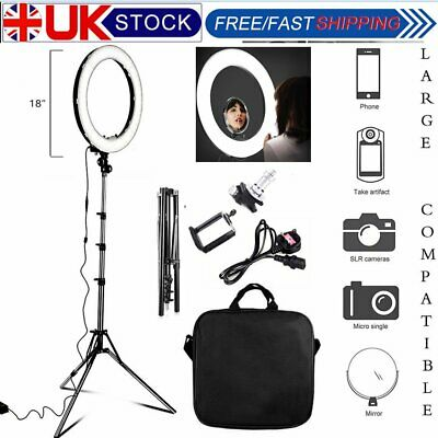 """Camera Photo 18""""Outer 14""""Inner 600W 5500K Ring Fluorescent Flash Light and Stand"""
