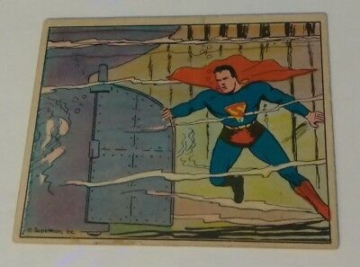 Superman 1940 vintage gum card #45 the runaway ship