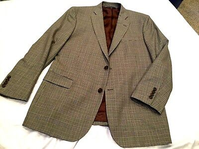 EXCELENT Brooks Brothers 346 Fitzgerald Glen Plaid Check Sport Coat Wool 42R 43R
