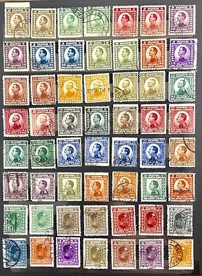 1921-26 Old Yugoslavia. Selection Of 56 Used Stamps. As Per Photos.
