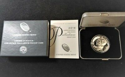 2018-W $25 American Eagle One Ounce Palladium Proof DCAM. US Mint Sold Out