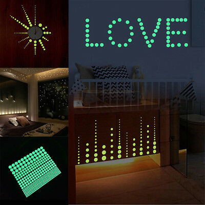 407Pcs Dot Luminous Star Wall Stickers Home Room Adron Glow In The Dark Decal kw