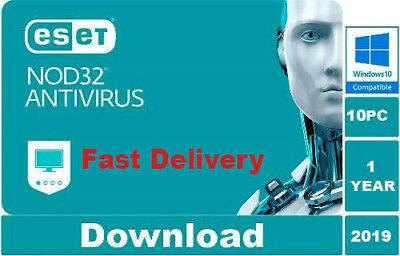 Eset Nod32 Antivirus 2019 v12 10 pc 1 year Original Product key. Fast Delivery