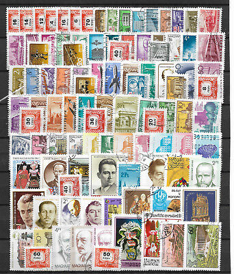 HUNGARY STAMP COLLECTION PACKET of 100 DIFFERENT POSTAGE STAMPS Mostly Used