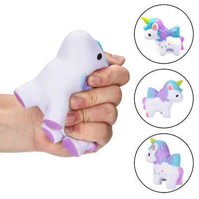 12CM Unicorn Squishy Rainbow Slow Rising Relief Toy Squeezable Kids Gift