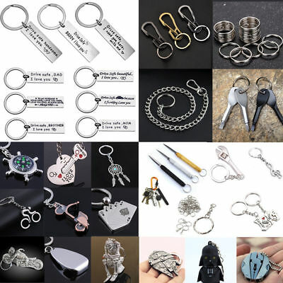 Fashion Metal Alloy Keyfob Car Keyring Unisex Keychain Compass Key Chain Ring