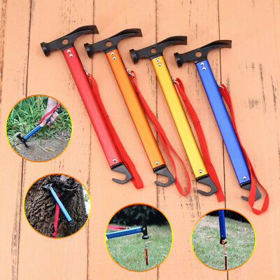 High Quality Multifunction High-carbon Steel Camping Mallet Hammer for Tent Pegs