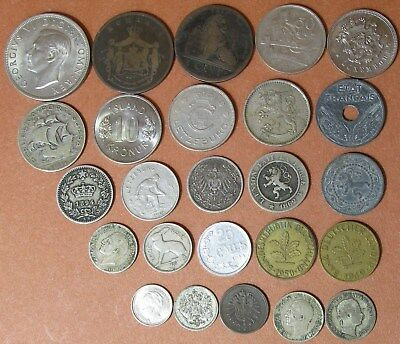 Lot,25 Foreign/World Coins 1833-1971,AG to AU,some silver