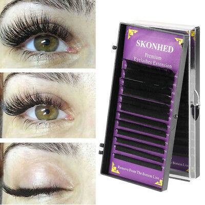NEW 12 lines Length 8~15mm Faux Mink Hair Individual Eyelashes Extension Makeup