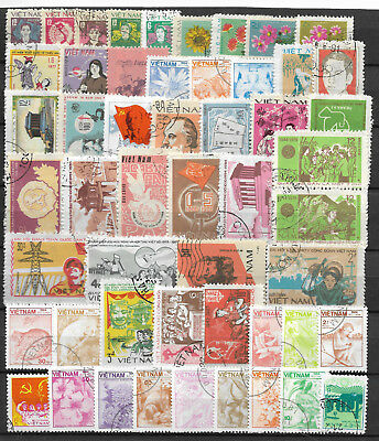 VIETNAM STAMP COLLECTION & PACKET of 50 DIFFERENT Used Stamps NICE SELECTION
