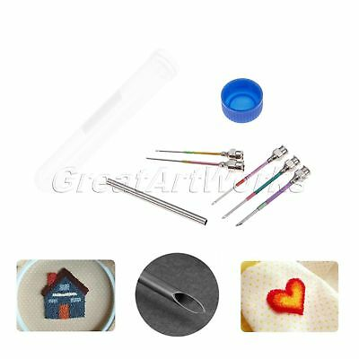 5Pcs Home Stitching Sewing Poked Needles 5 Sizes Hand Embroidery Punch with Rod
