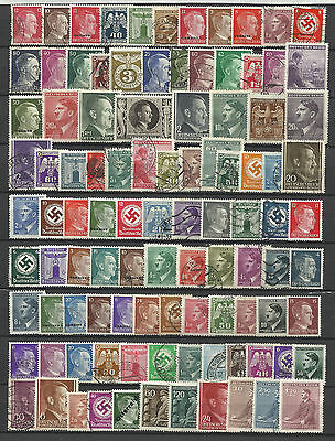 GERMANY ADOLF HITLER ERA STAMP COLLECTION PACKET 100 DIFFERENT Stamps Mint/Used
