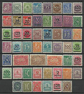 GERMANY 1919-23 INFLATION ERA STAMP COLLECTION PACKET of 100 DIFFERENT Stamps