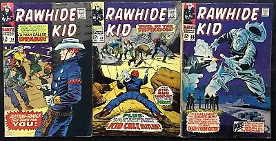 Lot Of 3 Rawhide Kid Comics (Marvel,1967/1968) #59, 64, 66 Silver Age ~