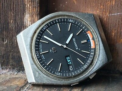 AUTHENTIC Nice Vintage Gents SEIKO ALARM QUARTZ SQ 7223 Day/Date Watch (WORKS)