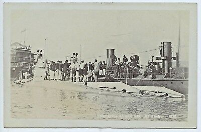 1915 Ww1 Rp Postcard British Submarines A.2 & A10 At Anchorage Vg Condition V70