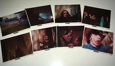 SEIZURE Movie Mini Lobby Card Set 1974 Martine Beswick Horror Poster Slasher