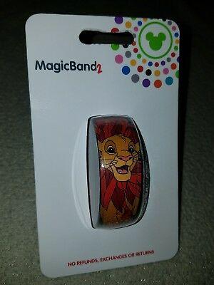 NEW Disney Parks The Lion King SIMBA Magic Band 2 RED Link It Later LINKABLE