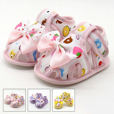 Newborn Sneakers Sandals Shoes Soft Crib Sole Antiskid Prewalker Cotton Blends