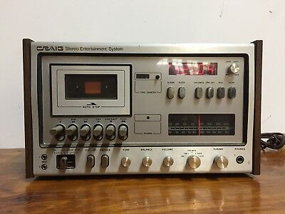 Vintage Craig A2000 Stereo System Complete Tape Deck Receiver Am Fm Alarm