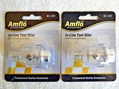 Amflo #41-101 In-Line Tool Oiler - 150 PSI  2 Pack Lot  - FREE SHIPPING -