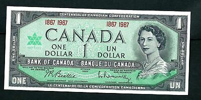 CANADA ONE Dollar 1967 with SPECIAL Serial Numbers SUPERB UNC Banknote
