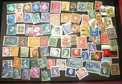 World Wide Stamps 80 count LOT #WWb