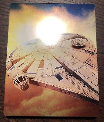 Solo A Star Wars Story Best Buy Steelbook Ultra HD 4K Blu Ray - Mint, No Digital