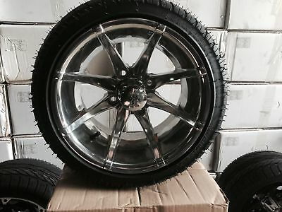 """Pimp your Cart With these 12"""" Polished Chrome Golf Cart Wheels"""