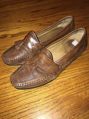 a7dd4939bac Mens Florsheim Tassle Slip On Loafers Sz 11 Tan Brown Tassle Shoes Sz 11