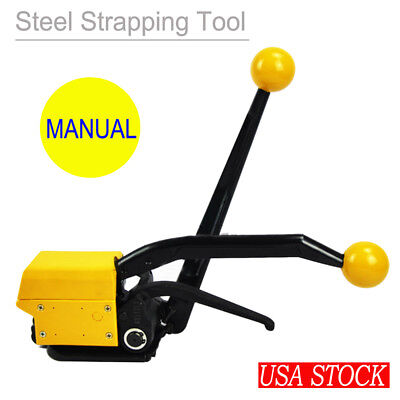 "A333 Manual Steel Strapping Tool No Buckle High Strength 1/2""-3/4"" Packaging USA"