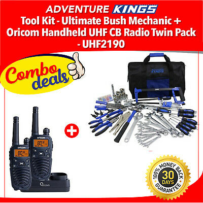 Adventure Kings Tool Kit - Ultimate Bush Mechanic + Oricom Handheld UHF CB Radio