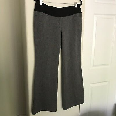 Express Editor Skinny Leg Ankle Dress Pants Size 00r Grey With Black