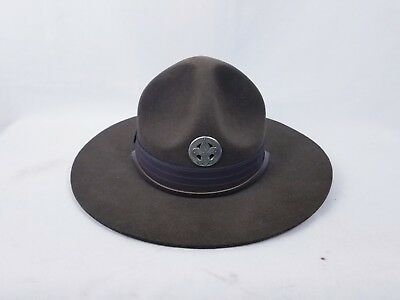 Vintage Boy Scouts Of America Official Campaign Hat 6 3/4  Bsa Crown Band