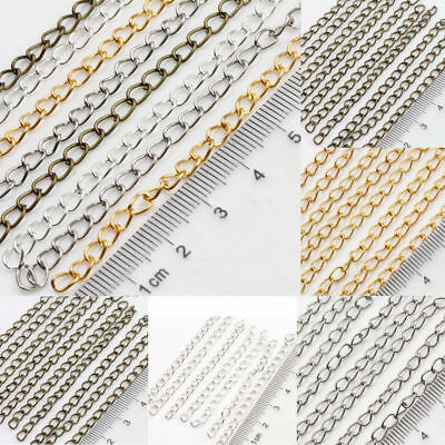 25/100Pcs Link Chain Extender Crafts Jewelry Making Finding Silver/Gold Plated