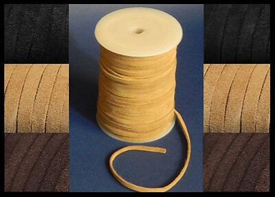 3mm 4mm 5mm  6mm FLAT SUEDE 100% REAL LEATHER CORD LACE CRAFT THONG HIDES BOLO