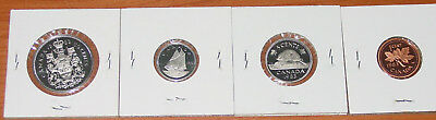Canada 1983 Cent, 5 Cent, 10 Cent, Half Dollar Proof Coins
