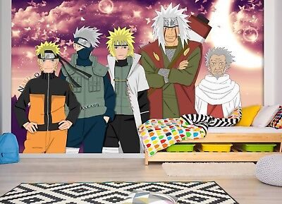 3D Naruto Classic 3 Japan Anime Game Wallpaper Mural Poster Cartoon Cosplay