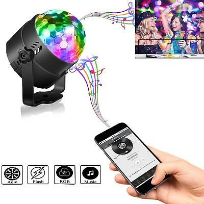 USB LED RGB Disco DJ Ball Strobe Light Effect Party Birthday Stage Car Lamp